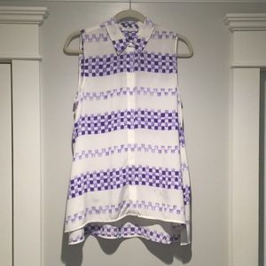 EUC Equipment xs-m tunic blouse silk geometric top